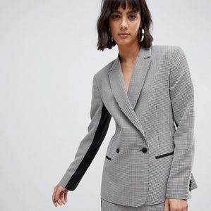 ASOS Check Suit Blazer with Contrast Side Stripe